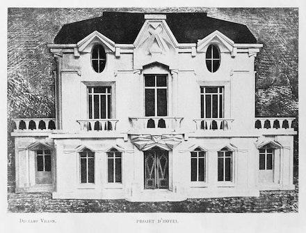 Raymond Duchamp-Villon, Model of Maison Cubiste Façade, Illustration for Les Peintres Cubistes, 1913
