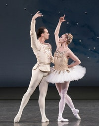 New York City Ballet's Sara Mearns and Tyler Angle in Diamonds from George Balanchine's <em> Jewels </em>(Photo credit: Paul Kolnik).