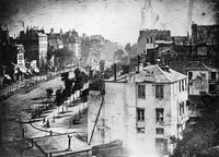 Louis-Jacques-Mandé Daguerre, <em>View of the boulevard du Temple, Paris</em>, 1838.