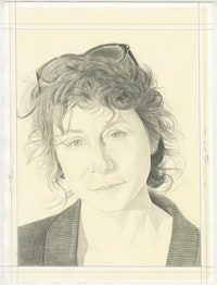 Pencil Portrait of Lisa Oppenheim by Phong Bui