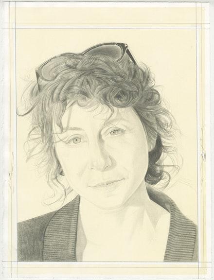 Pencil Portrait of Lisa Oppenheim by Phong Bui