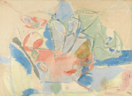 Helen Frankenthaler, <em>Mountains and Sea</em>, 1952, oil and charcoal on canvas, 219.4 x 297.8 cm x 117 1/4, in.), Helen Frankenthaler Foundation on loan to the National Gallery of Art, Washington X.16 &copy;2017 Helen Frankenthaler Foundation, Inc. / Artists Rights Society (ARS), New York.