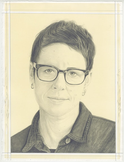 Pencil Portrait of Eva Rothschild by Phong Bui