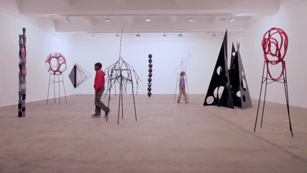 Eva Rothschild, <em>Film still - Boys and Sculpture </em> 2012. film duration 24mins 39seconds. Courtesy The artist. Made for The Whitechapel Gallery Children&rsquo;s Commission, 2012
