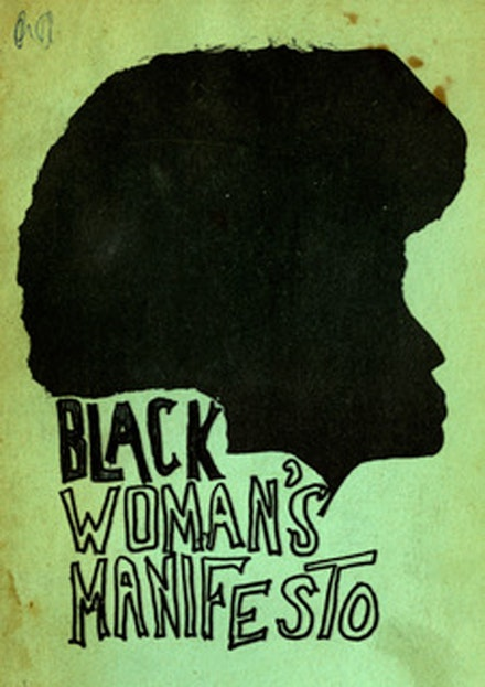 Cover of <em>Black Woman's Manifesto</em>, New York: Third World Women's Alliance, ca. 1970-75.