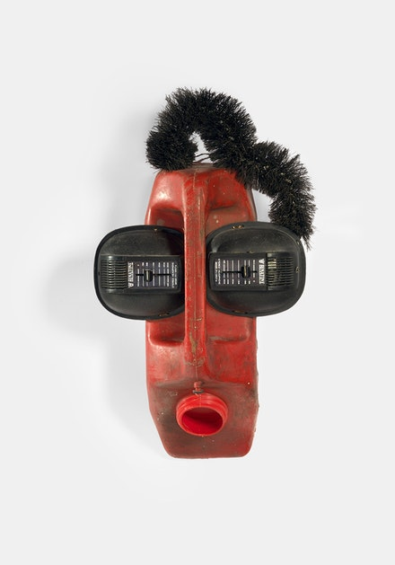 Roumald Hazoumè, <em>Ear Splitting</em>, 42 x 22 x 16 cm, 1999. © ADAGP, Paris 2017. Courtesy CAAC – The Pigozzi Collection.