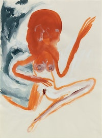 <i>Untitled (Woman)</i>, 1986, Gouache on paper, 30 x 22 1/4 in, 76 x 56.5 cm