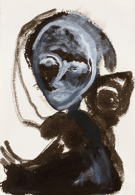 <i>Untitled</i>, 1985, India ink, gouache on paper, 10 x 7 in, 25.5 x 18 cm