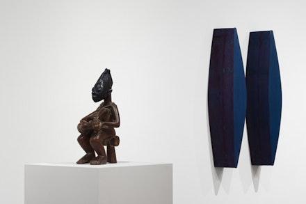 Installation view of <em>Blue Black</em>, West Gallery. Pulitzer Arts Foundation, 2017. Photograph by Jim Corbett © Alise O'Brien Photography