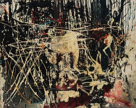 Tadeusz Kantor (1915-1990), <em>Composition</em>, 1958. Oil on canvas, 45 1/2 x 54 1/4 in. Lent by Muzeum Sztuki, Lodz, Poland.