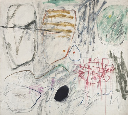 Jan Kotik, <em>Painting 22 (Whiteboard)</em>, 1964. Oil and acrylic on canvas, 146 x 162 cm. Lent by Petr Kotik, Brooklyn, New York.