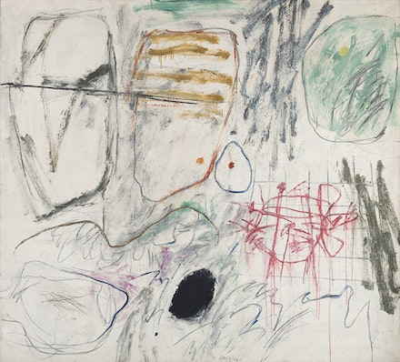 Jan Kotik, <em>Painting 22 (Whiteboard)</em>, 1964. Oil and acrylic on canvas, 146 x 162 cm. Lent by Petr Kotik, Brooklyn, New York.
