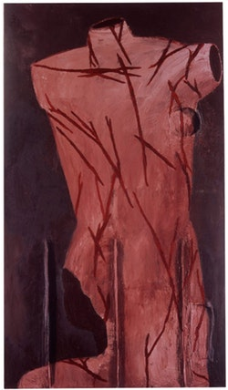 Julian Schnabel, <em>Saint Sebastian</em>, 1979. Oil and wax on canvas, 111 x 66 in. &copy; Julian Schnabel Studio
