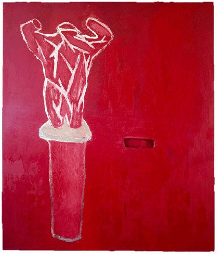 Julian Schnabel, <em>Accattone</em>, 1978. Oil and wax on canvas.  84 x 72 in. &copy; Julian Schnabel Studio