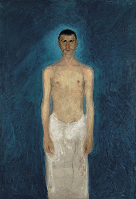 Richard Gerstl (1883-1908) <em>Semi-Nude Self-Portrait</em>, 1902-04, Oil on canvas, Leopold Museum, Vienna