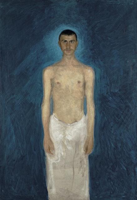 Richard Gerstl (1883-1908) <em>Semi-Nude Self-Portrait</em>, 1902-04, Oil on canvas, Leopold Museum, Vienna