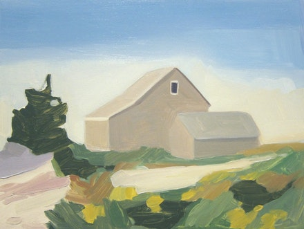 Maureen Gallace, <em>Summer House / Dunes</em>, 2009, oil on panel. Courtesy the artist and 303 Gallery.