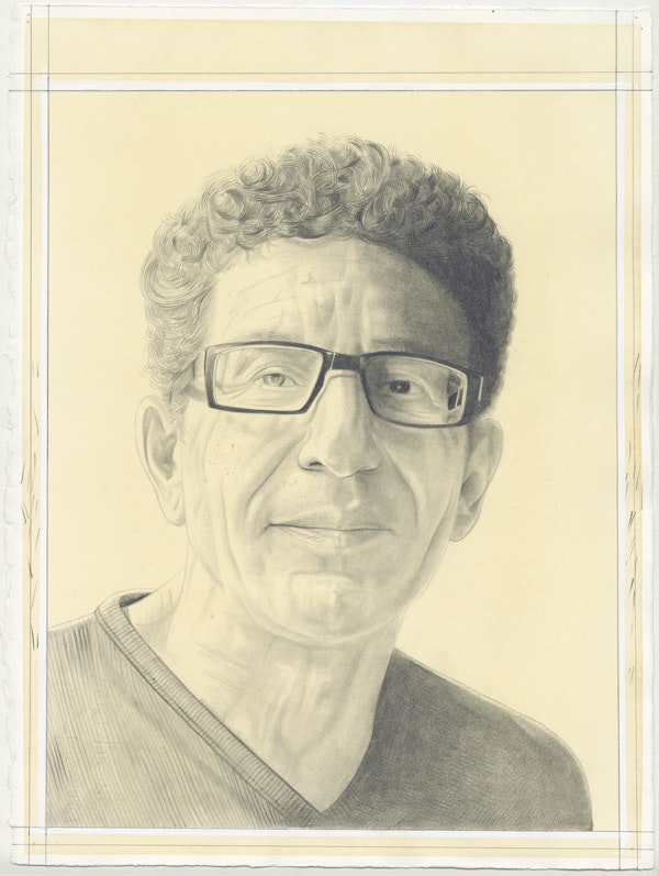 Portrait of Arden Reed by Phong Bui. Pencil on paper.