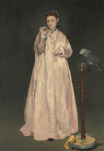 Edouard Manet, <em>Young Lady in 1866</em>, oil on canvas, 72 7/8 x 50 5/8 in. Courtesy of the Metropolitan Museum of Art.