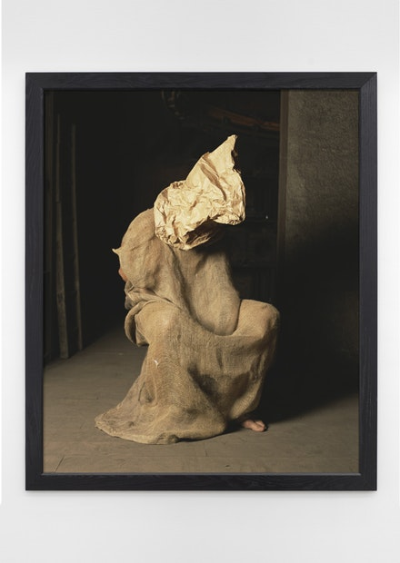 Andres Serrano, <em>Untitled XXVI-1 (Torture)</em>, 2015. Pigment print, back-mounted on dibond, wooden frame, 60 x 50 inches. Courtesy of the artist.