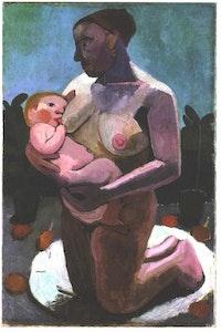 Paula Modersohn-Becker, <em>Kneeling Mother and Child</em>, 1907.