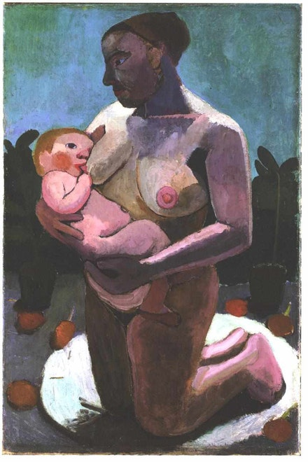 Paula Modersohn-Becker, <em>Kneeling Mother and Child</em>, 1907.