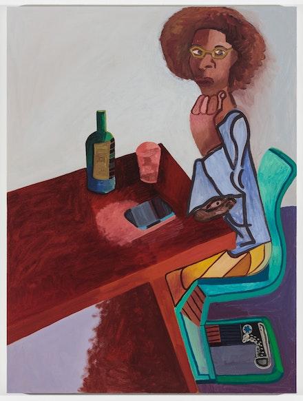 Alex Bradley Cohen, <i>La Keisha Leek</i>, 2017. Acrylic on canvas, 48 x 36 inches. Courtesy the artist and Nicelle Beauchene Gallery.