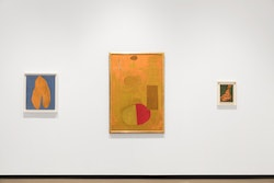 Installation view of <i>Robert Motherwell: Early Paintings </i> Photo by: Diego Flores / Paul Kasmin Gallery &copy; Dedalus Foundation, Inc./ Licensed by VAGA, New York, NY