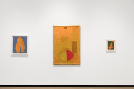 Installation view of <i>Robert Motherwell: Early Paintings </i> Photo by: Diego Flores / Paul Kasmin Gallery © Dedalus Foundation, Inc./ Licensed by VAGA, New York, NY