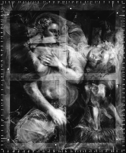 Robert Longo, <i>Untitled (X-Ray of Venus with a Mirror, 1555, After Titian)</i>, 2016-17. Charcoal on mounted paper, 110 x 92  in. &copy; Robert Longo, Courtesy the artist, Metro Pictures, New York, and Galerie Thaddaeus Ropac; London, Paris, Salzburg.