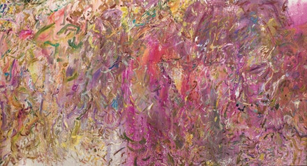 Larry Poons, <em>Antique</em>, 2017, acrylic on canvas. Courtesy Larry Poons studio and Yares Art.