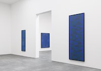Installation view, Ad Reinhardt: Blue Paintings at David Zwirner New York, September 12 - October 21, 2017. © 2017 Estate of Ad Reinhardt/Artists Rights Society (ARS), New York. Courtesy David Zwirner, New York/London.