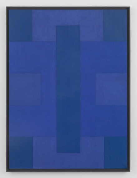 Ad Reinhardt, <em>Blue Painting, 1951-1953</em>. Oil on canvas, 80 x 59 7/8 inches (203.2 x 152.1 cm) Private Collection, Europe © 2017 Estate of Ad Reinhardt/ Artists Rights Society (ARS), New York. Courtesy David Zwirner, New York/London.