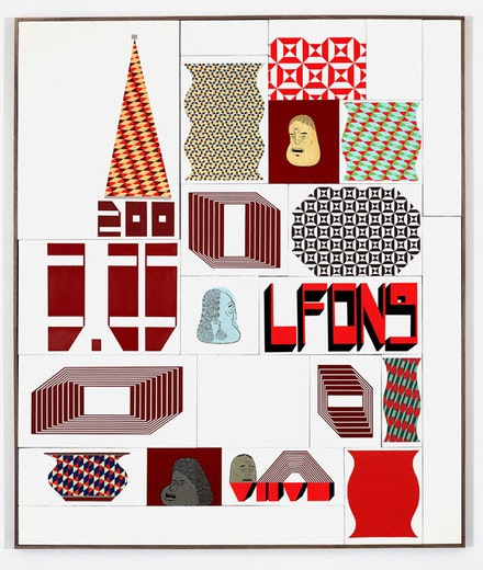 Barry McGee, <em>Untitled</em>, 2016. 78 x 66 inches. Courtesy the artist and Ratio 3, San Francisco.