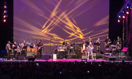 Angélique Kidjo and Ibibio Sound Machine. Photo by Kevin Yatarol, courtesy of Lincoln Center.