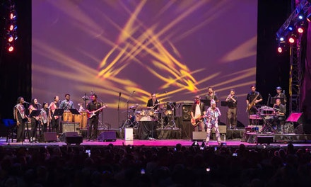 Angélique Kidjo and Ibibio Sound Machine. Photo by Kevin Yatarol, courtesy of Lincoln Center.
