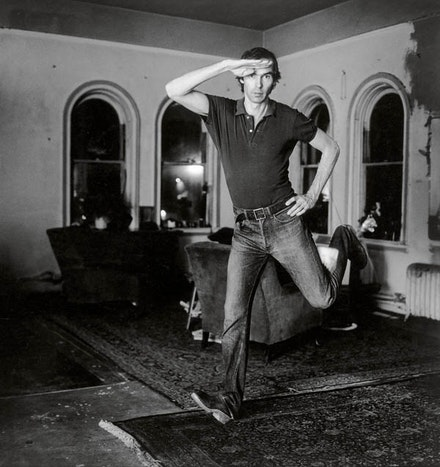 Peter Hujar, <em>Self-Portrait Jumping (1)</em>, 1974; from <em>Peter Hujar: Speed of Life</em> (Aperture, 2017) The Morgan Library & Museum, The Peter Hujar Collection. Purchased on the Charina Endowment Fund, 2013. © The Peter Hujar Archive, LLC. Courtesy Pace/MacGill Gallery, New York, and Fraenkel Gallery, San Francisco.