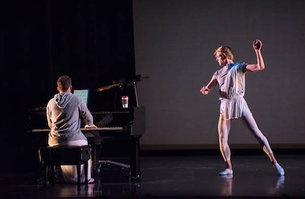 Colin Fowler and David Hallberg in <em>Twelve of 'em.</em> Photo by Stephanie Berger.