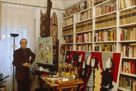 Eugenio Granell in his Studio. Courtesy Fundación Granell.