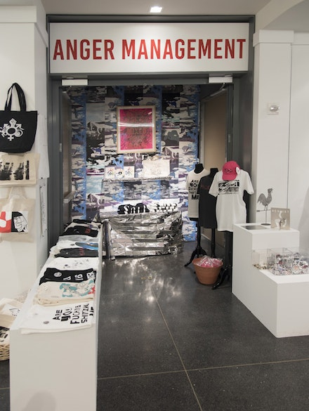 <em>Anger Management</em> Pop Up, Brooklyn Museum, Photo: Jonathan Dorado.