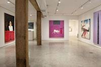 Installation view, <em>Joan Brown</em>, George Adams Gallery, New York. 2017.