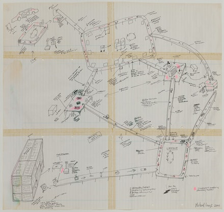 Michael Landy,Diagram for Break Down,2000. Pen and ink on paper.Courtesy Artist and© The Trustees of the British Museum (2017).