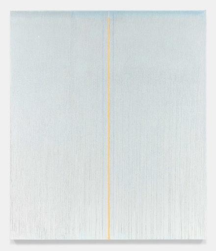 Pat Steir, <em>Angel</em>, 2016 - 2017. Oil on canvas. 132 x 113 inches. Courtesy of Lévy Gorvy. © Pat Steir, 2017.
