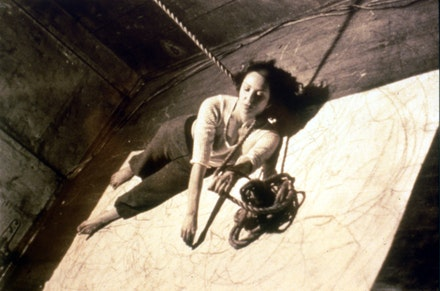 Carolee Schneemann. <em>Up to and Including Her Limits. </em>1973-76.  The Museum of Modern Art, New York, Committee on Drawings Funds and Committee on Media and Performance Art Funds, 2012. &copy; 2017 Carolee Schneemann. Courtesy the artist, P.P.O.W, and Galerie Lelong, New York.