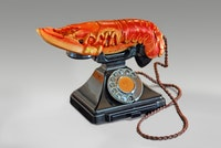 <p>Salvador Dalí with the collaboration of Edward James, <em>Lobster Telephone</em>, 1938. Telephone, steel, plaster, rubber, resin and paper, 18 x 30.5 x 12.5 cm. West Dean College, part of Edward James Foundation © Salvador Dalí, Fundació Gala-Salvador Dalí, DACS 2017.</p>