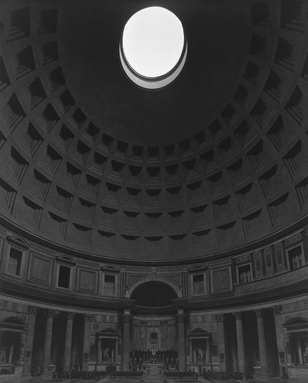 <p>Hiroshi Sugimoto, <em>Pantheon, Rome</em>, 2015. Gelatin silver print. &copy; Hiroshi Sugimoto.</p>