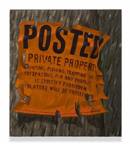 <p>Josephine Halvorson, <em>Jagged</em>, 2017. Oil on linen, 23 x 20 inches. Courtesy Sikkema Jenkins.</p>