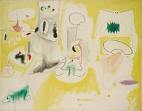 <p>Arshile Gorky, <em>Pastoral</em>, c. 1947. Oil and pencil on canvas. Photo: Constance Mensch for The Philadelphia Museum of Art. © The Arshile Gorky Foundation / Artists Rights Society (ARS) New York. Courtesy The Arshile Gorky Foundation and Hauser & Wirth.</p>