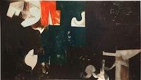 <p>Hassel Smith, <em>The Houston Scene</em> (1959) Oil on canvas. Courtesy Washburn Gallery, New York.</p>