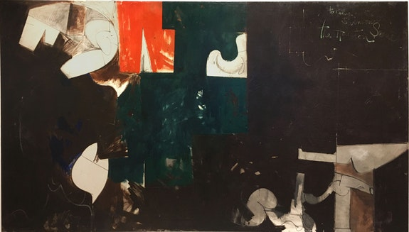 <p>Hassel Smith, <em>The Houston Scene</em> (1959) Oil on canvas. Courtesy Washburn Gallery, New York.</p>